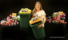 Recycle theme puppets