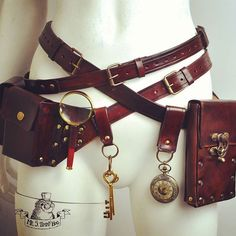And now for something completely different . #beltbags #belts #beltwatch #goldenkeys #steampunkbelt #steampunkbag #beltpurse #bags #purse #waistbag #steampunkwatch #steampunk #ultimatebeltkit #hipbag #leatherpurse #leatherbag #steampunkoutfit #steampunkfashion #cosplay #costume #explorer