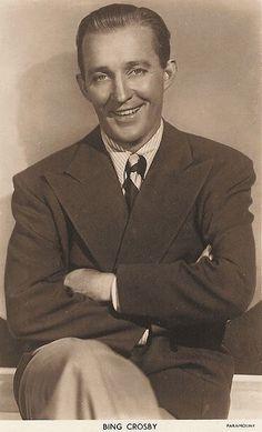 Bing Crosby......straight up class.