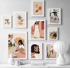 Abstract Fashion Vintage Girl Minimalist Wall Art Canvas Painting Nordic Posters And Prints Wall Pictures For Living Room Decor Abstract Canvas Art, Canvas Art Prints, Canvas Wall Art, Canvas Frame, Painting Canvas, Painting On Wall, Framed Art Prints, Canvas Walls, Wall Art Prints