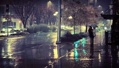 Love the story and the colors in this photo. Inspires me to take my camera out in the rain.