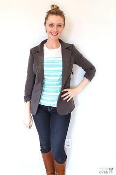 I really like this blazer! February Stitch Fix Review | cute blazer - I like the details on the sleeves