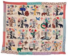 Appliqued quilt made in 1936. Baltimore MD