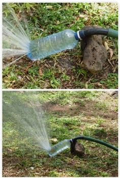 20 great ideas for easily recycling your plastic bottles. - - garden design ideas - 20 great ideas for easily recycling your plastic bottles. 20 great ideas for easily recycl - Garden Projects, Garden Tools, Recycled Garden, Bottle Garden, Diy Bottle, Recycle Plastic Bottles, Plastic Recycling, Recycling Ideas, Jeans Recycling