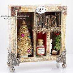 tim holtz christmas cards ideas | CeeCee's Creations: tim holtz's configuration christmas box