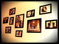Pretty way to arrange our wedding photos :)