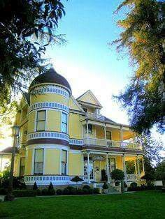 House on Cypress in Redlands. Redlands California, Hotel California, Beautiful Buildings, Beautiful Homes, San Bernardino County, Dream Properties, Yellow Houses, Victorian Architecture, Shades Of Yellow