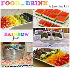 Rainbow Birthday Party Food