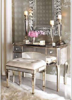 One of my favorite things is the old Hollywood mirrored look....very Art Deco!!!