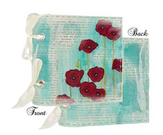 Prima - Poppies and Peonies Collection - Donna Downey - Fabric Canvas Album - Poppy at Scrapbook.com $19.99