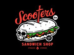 Scooters Sandwich Shop came alive again for this years Hack Week at Dropbox. This little guy was one of the many designs we created for the project and this one specifically was a collaboration wit...