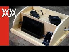 Make a device charging station to organize your phones and gadgets - YouTube