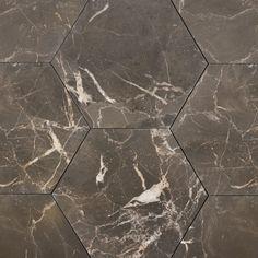 Emparador Brown MarmorHexagon 15x17,3x1cm - ULFVEN Tile Floor, Tiles, Flooring, Brown, Marble, Room Tiles, Tile Flooring, Tile, Hardwood Floor