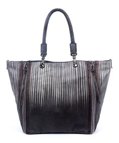 This Salt Slate Barracuda Leather Tote is perfect! #zulilyfinds