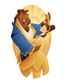 Belas ilustrações baseadas em filmes da Disney