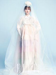 #hanbok #wedding #dress #veil #bride #korea #fashion #modern #classic