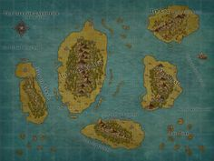 Map of Laeonesse- the Blessed Isles, a homebrew D&D 5e setting