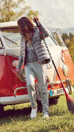 Keep it casual, keep it fun. Stylish sweatpants mixed with qulted light down jackets and wool sweaters from the Bogner Fire + Ice Spring/Summer 2016 collection for women are perfect for outdoor springtime adventures with friends. See more spring and summer looks from the collection soon!