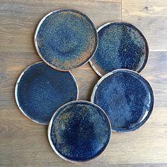 "Melbourne Ceramics Market (@melbourne_ceramics_market) on Instagram: ""Handmade tableware.... What's not to love Deep indigo plates by @annemariepeters_ceramics…"""