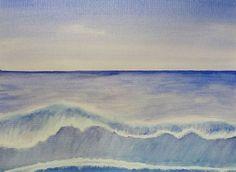 Ocean Wave - Watercolor Painting
