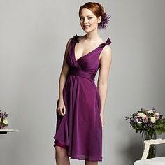 Plum built up strap prom dress - Bridesmaid dresses - Dresses - Women -