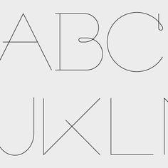 New font, work in progress, ABC ...