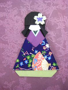 Japanese Origami Doll Tomoko by umeorigami, via Flickr