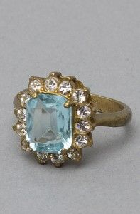Vintage Ring in Pale Blue