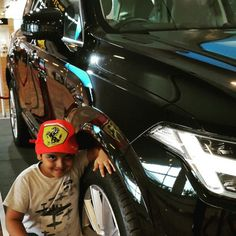 Champ with his dream machines: With the Volvo XC90 at IGI T2.