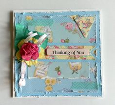 Dovecraft Forget Me Not Thinking of you card, by maxinecrafts