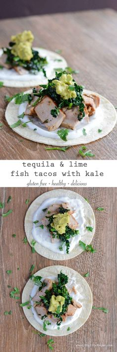 Tequila Lime Fish Tacos with Kale {gluten free} - A Healthy Life For Me
