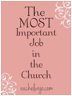 So who has the most important job in the church? The pastor? Sunday School teacher? Worship leader? and what does that have to do with toddler-sized fits?