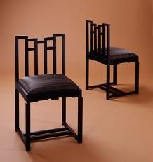 """The """"Chinese-room"""" chair by C. Ebonized and upholstered. Dream Furniture, Furniture Layout, Fine Furniture, Furniture Design, Furniture Makers, Mackintosh Chair, Mackintosh Furniture, Charles Rennie Mackintosh, Room Chairs"""
