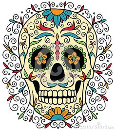 Mexican ornamental sugar skull.