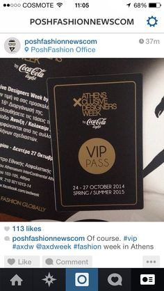 vip pass of course for poshfashion