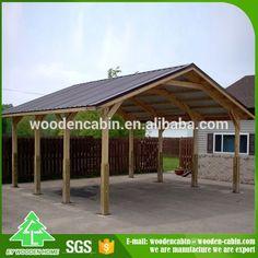 Source Cheap price prefab wooden carport/2 car wooden carport for sale on m.alibaba.com