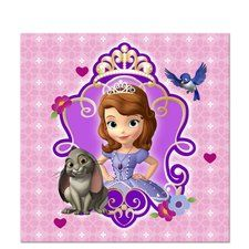 "Sofia the First Beverage Napkins. One package of 16 Sofia the First 10"" 2-Ply Paper Beverage Napkins. Find at http://www.ezpartyzone.com/pd-sofia-the-first-beverage-napkins.cfm"