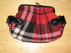 Red an Black Plaid Coin Purse or Clutch by ShabbyBuyDesign on Etsy, $10.00