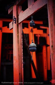 Fushimi-Inari-Taisha Shrine,Kyoto Japanese Shrine, Japanese Castle, Japanese Temple, Japanese Wind Chimes, The Last Samurai, Fushimi Inari Taisha, Temple Bells, Asian Photography, Asian Architecture