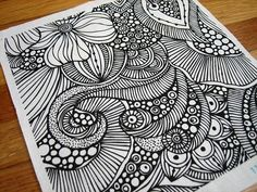 Padrões do doodle, rabiscos zen, modelos de zentangle, desenhos zentangle, doodles Zentangle Drawings, Doodles Zentangles, Zentangle Patterns, Doodle Drawings, Easy Drawings, Doodling Art, Doodle Patterns, Doodle Art For Beginners, Easy Doodle Art