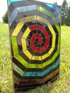 Stained Glass Window Halloween Rainbow Web Suncatcher Transom Valance