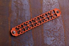 Items similar to Leather Bracelet Orange love, Leather Cuff, Jewelry, Ladies Leather Bracelets, Orange Leather on Etsy Leather Bracelets, Leather Cuffs, Leather Jewelry, Cuff Bracelets, Feel Unique, Orange Leather, Metal Buttons, Delicate, Jewellery