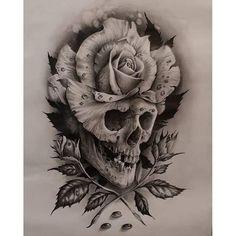 Sketch Tattoo Design, Floral Tattoo Design, Skull Tattoo Design, Tattoo Sketches, Tattoo Drawings, Tattoo Designs, Half Sleeve Tattoo Stencils, Half Sleeve Rose Tattoo, Sleeve Tattoos