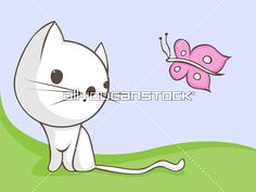 Cute Cat with little butterfly * All You Can Stock All You Can, Sonic The Hedgehog, Pikachu, Butterfly, Cats, Fictional Characters, Gatos, Cat, Fantasy Characters