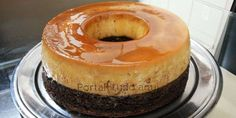 Bolo e pudim é muito bom, os dois juntos é maravilhoso! Receita prática de bolo pudim feita pelo chef  Edu Guedes, no programa hoje em dia da Record.