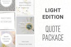 Social Media Quotes - Light Edition by Annemiek van Luinen on @creativemarket