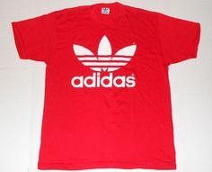Vintage ADIDAS Double Sided Trefoil Classic Logo Soft 50/50 T Shirt LARGE 42-44 #adidas #GraphicTee