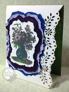 An Elegant Touch...: Flower in Vase - 'Thanks so much' Card