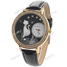 $4.79 - WWM-114392 - Female Quartz Watch with Rhinestones Decor - Android Smart Phone, LED Watch, China Online Shop, Free Shipping