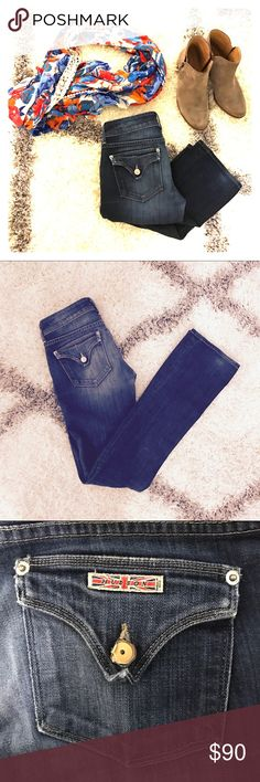 Hudson Boot Cut Jeans Lightly worn, size 26, 5-pocket Hudson jeans. Medium faded wash perfect for winter and summer! Hudson Jeans Jeans Boot Cut